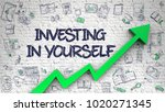 investing in yourself  ... | Shutterstock . vector #1020271345