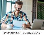 man is doing his freelance job...   Shutterstock . vector #1020272149