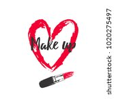 make up and beauty concept.... | Shutterstock .eps vector #1020275497