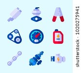 icons about car engine with... | Shutterstock .eps vector #1020275941