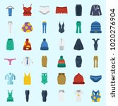 icons about women clothes with... | Shutterstock .eps vector #1020276904
