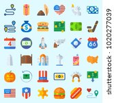 icons about united states with... | Shutterstock .eps vector #1020277039