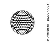 the vector of golf ball in...