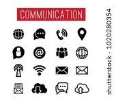 communication and media icon... | Shutterstock .eps vector #1020280354
