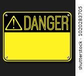 danger sign. flat sign. print... | Shutterstock .eps vector #1020283705