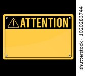 attention sign. flat sign.... | Shutterstock .eps vector #1020283744