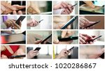 collage of different people... | Shutterstock . vector #1020286867