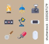 icons gadgets with cutter  tape ... | Shutterstock .eps vector #1020287179
