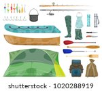 fishing sport equipment and... | Shutterstock .eps vector #1020288919