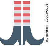 girls legs with striped... | Shutterstock .eps vector #1020290101