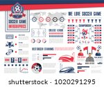 soccer or football sport game... | Shutterstock .eps vector #1020291295