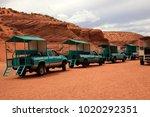 Small photo of Page, Arizona / USA - August 05, 2015: Four weel drive near Upper Antelope Canyon, Page, Arizona, USA