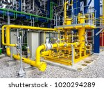 fuel gas filter system in power ... | Shutterstock . vector #1020294289