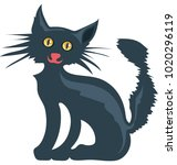 evil cat color isolated... | Shutterstock .eps vector #1020296119