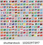 all national world waving flags ... | Shutterstock .eps vector #1020297397