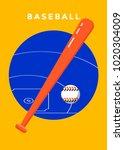 baseball game sport poster... | Shutterstock .eps vector #1020304009