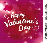 valentines day background with... | Shutterstock .eps vector #1020313087