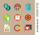 icons marketing with diagram ... | Shutterstock .eps vector #1020313735