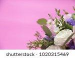 flower bouquet on pink... | Shutterstock . vector #1020315469