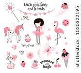 cute pink fairy  graphic... | Shutterstock .eps vector #1020322195