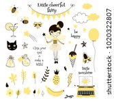 cute yellow fairy  graphic... | Shutterstock .eps vector #1020322807