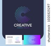 clever and creative dots or... | Shutterstock .eps vector #1020325297