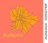 flat scheme of the budapest ...   Shutterstock .eps vector #1020327409