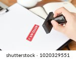 cancelled stamp concept | Shutterstock . vector #1020329551