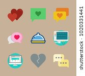 icons romance lifestyle with... | Shutterstock .eps vector #1020331441