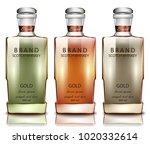 scotch whiskey brand bottles...   Shutterstock .eps vector #1020332614
