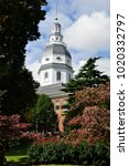 the maryland state house... | Shutterstock . vector #1020332797