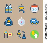 icons travel with barbecue ... | Shutterstock .eps vector #1020336841