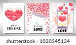 set of valentines day card...   Shutterstock .eps vector #1020345124