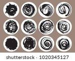 hand drawn scribble circles ...   Shutterstock .eps vector #1020345127
