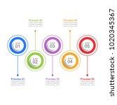 infographic design template... | Shutterstock .eps vector #1020345367