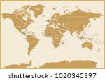 political vintage world map... | Shutterstock .eps vector #1020345397