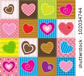 Vector Colorful Patchwork With...