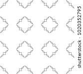 seamless ornamental vector... | Shutterstock .eps vector #1020352795