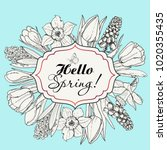 card for spring season with...   Shutterstock .eps vector #1020355435