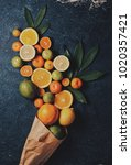 Small photo of Bouquet of citrus, orange , citrus