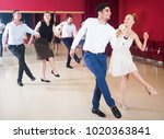 young people practicing... | Shutterstock . vector #1020363841