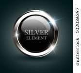 silver shiny modern element.... | Shutterstock .eps vector #102036397