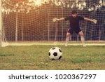 close up ball with football... | Shutterstock . vector #1020367297