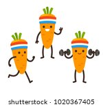 funny heath and fitness... | Shutterstock .eps vector #1020367405