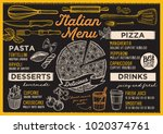 pizza restaurant menu. vector... | Shutterstock .eps vector #1020374761