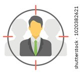 focused market  flat vector of ... | Shutterstock .eps vector #1020382621