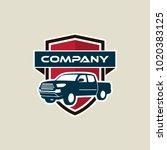 pickup truck vector logo... | Shutterstock .eps vector #1020383125