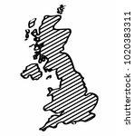 united kingdom map outline... | Shutterstock .eps vector #1020383311