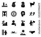 solid vector icon set  ... | Shutterstock .eps vector #1020398695