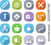 flat vector icon set   pencil... | Shutterstock .eps vector #1020399769